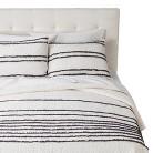 Ruffle Quilt Set - White/Gray