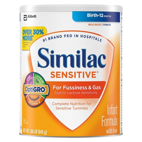 Similac® Sensitive Powder - 1.86lb (6 Pack)