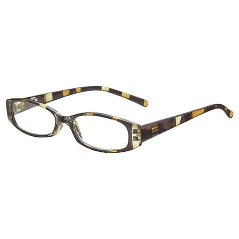 Eyeglass Frames Target : ICU Plastic Oval Zebra Stripe Reading Glasses : Target