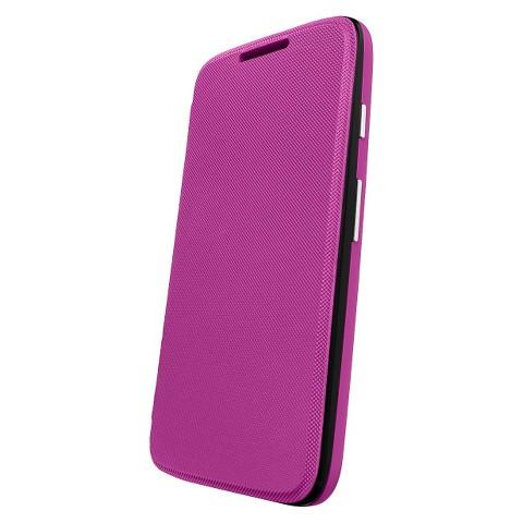 Motorola Flip Shell for Moto G Cell Phone Case - Purple (ASMFLPCVVI)