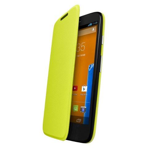 Motorola Flip Shell for Moto G Cell Phone Case - Yellow (ASMFLPCVLL)