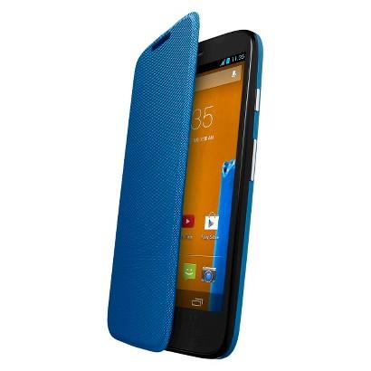 Motorola Flip Shell for Moto G Cell Phone Case - Blue (ASMFLPCVTQ)