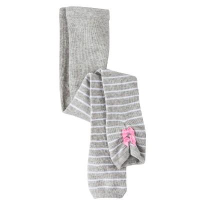 Cherokee® Infant Toddler Girls' Stripe Tights - Grey