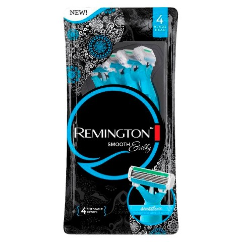 remington womens smooth and silky 4 blade shaver tar