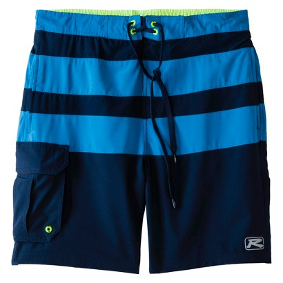 "R-Way Men's 9"" 4 Way Stretch Stripe Boardshort"