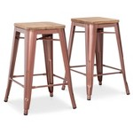 "Set of 2 Threshold Hampden 24"" Counter Stool"