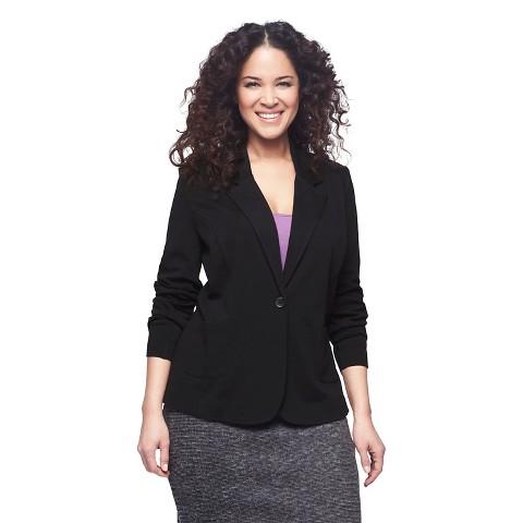 Women's Plus Size Ponte Jacket Black-Pure Energy