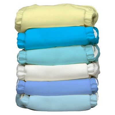 Charlie Banana Reusable Diaper 6 Pack One Size - Boy