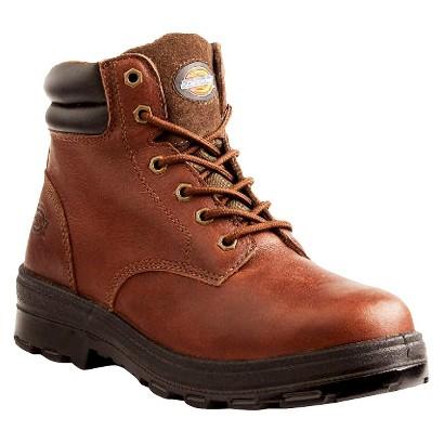 Men's Dickies® Challenger Genuine Leather Waterproof Steel Toe Work Boots - Oxblood
