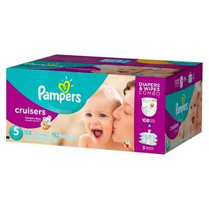Pampers Cruisers Diapers & Wipes Combo Pack (Select Size)