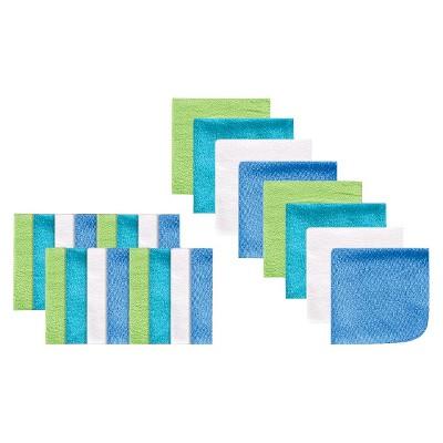 Luvable Friends Blue Infant Washcloth Set  - OSFM