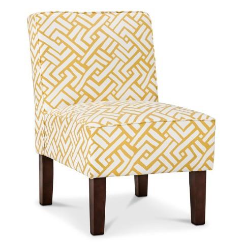 Threshold Slipper Chair Yellow Geo