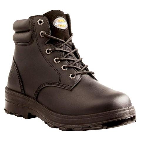 Men's Dickies® Challenger Genuine Leather Waterproof Steel Toe Work Boots - Black