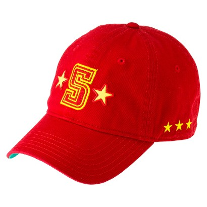 "Men's Red and Yellow ""S"" Baseball Hat"