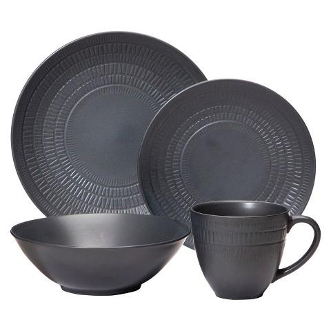 Nate Berkus™ Matte 16-Piece Dinnerware Set - Black Matte