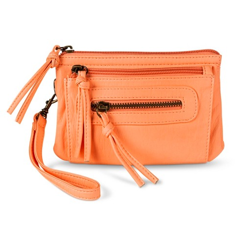 Mossimo Supply Co. Solid  Clutch with Removable Wristlet Strap - Peach
