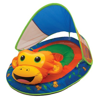 SwimWays Baby Spring Float Animal Friends with Sun Canopy - Monkey