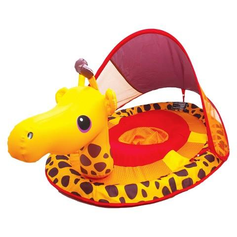 SwimWays Baby Spring Float Animal Friends with Sun Canopy - Giraffe