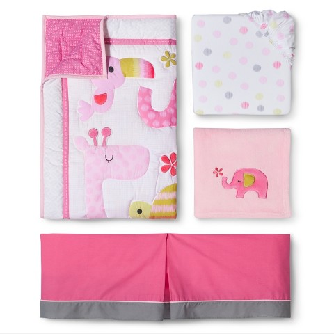 Circo® 4pc Crib Bedding Set - Snooz 'n Safari Girl