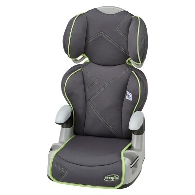 Evenflo Amp High Back Booster Car Seat - Green Angles