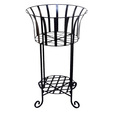 2-Tiered Metal Wire Planter Stand