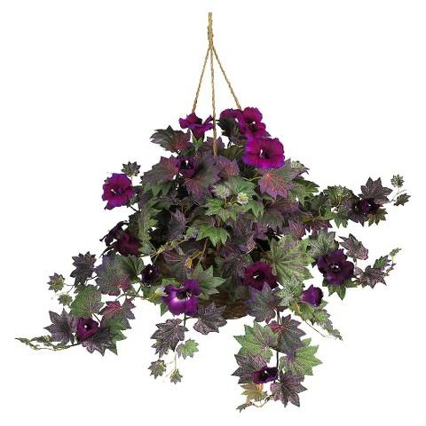"""Morning Glory Hanging Basket - 24""""H"""