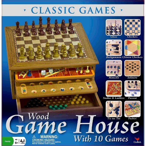 Classics Wood Game House with 10 Games