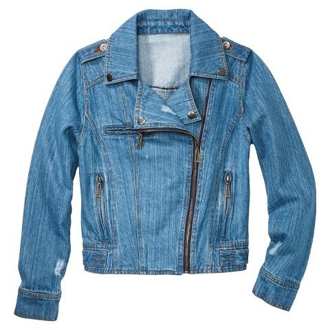 Dollhouse Girls' Moto Denim Jacket