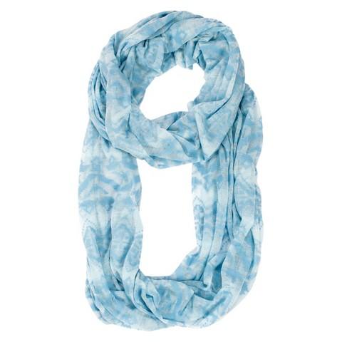 MUK LUKS® Jersey Knit Infinity Scarf - Blue