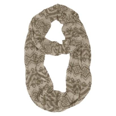 MUK LUKS® Jersey Knit Infinity Scarf - Brown