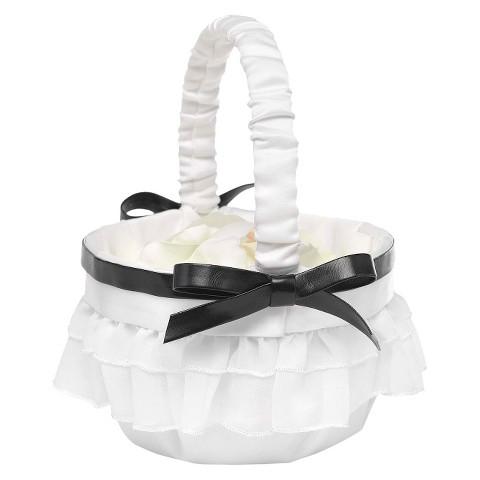Peplum Basket - White