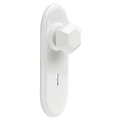 Young House Love Hexagon Shaped Door Knob Hook - White