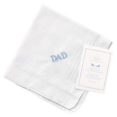 Dad Embroidered Hanky -  Blue