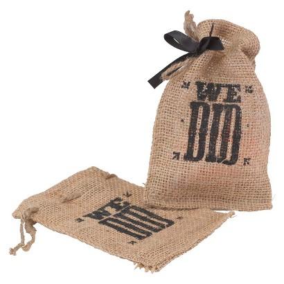 We Did Burlap Favor Bags