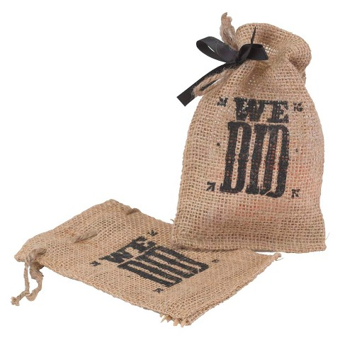 We Did Burlap Favor Bags