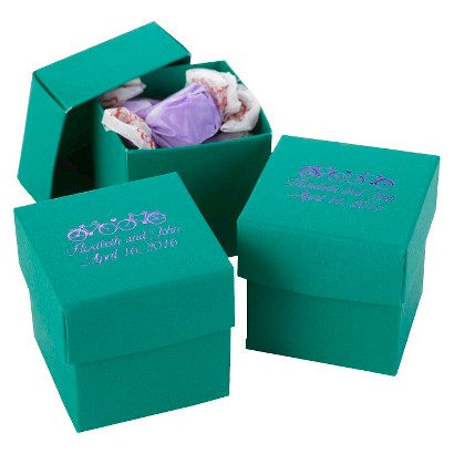 Emerald Favor Boxes