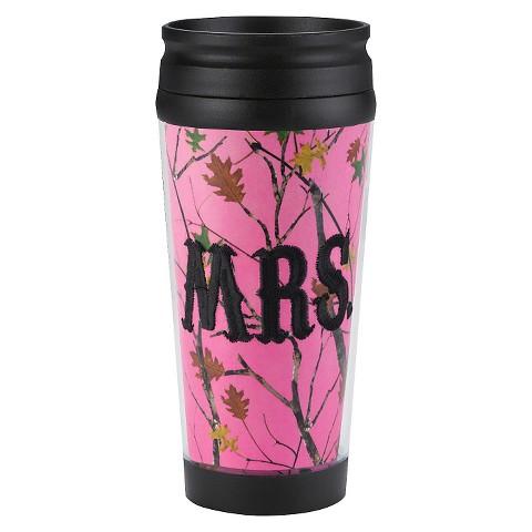 Portable Beverage Mug Spritz 16oz. Pink Black