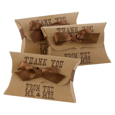 Thank You Pillow Style Favor Box