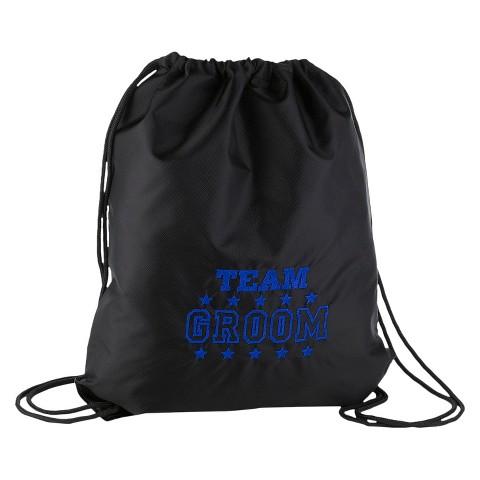 Team Groom Cinch Bag - Black
