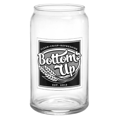 Bottoms Up Glass Can