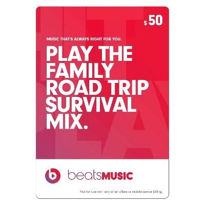 Beats Music $50 Gift Card