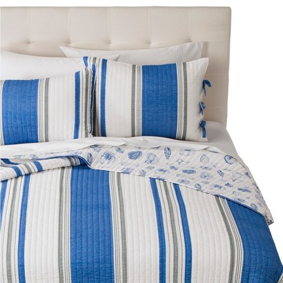 Coastal St. Croix Quilt Set - Blue (Full/Queen)