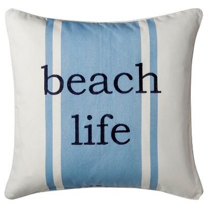 Coastal Beach Life Decorative Pillow