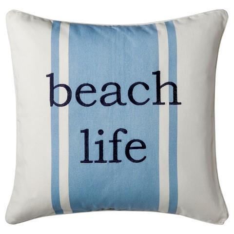 homthreads™ Coastal Beach Life Decorative Pillow