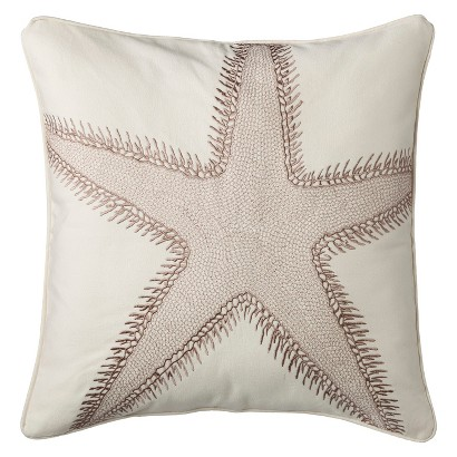 Coastal Starfish Decorative Pillow