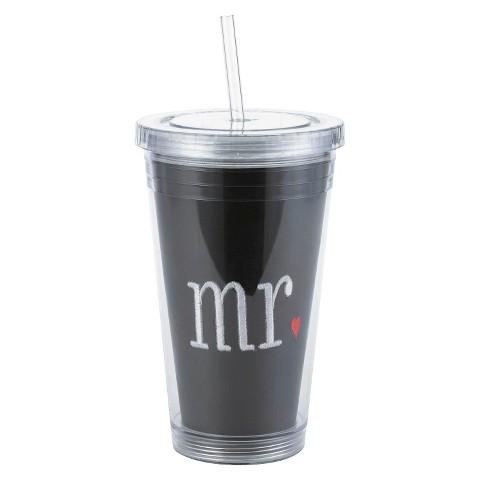 """Mr"" Water Tumbler - Black"