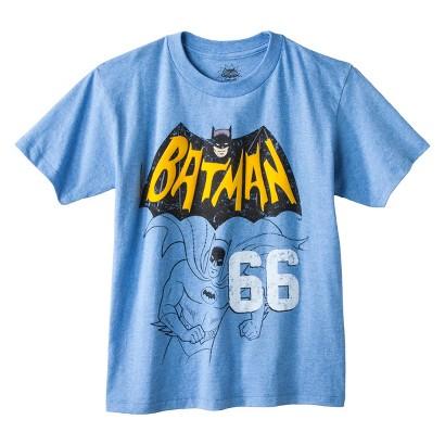 Batman Boys' Graphic Tee - Heather Blue