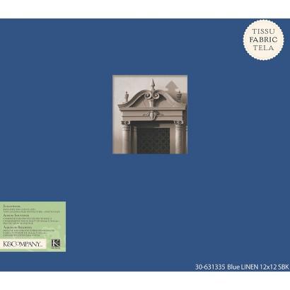 K&Company Fabric Scrapbook Blue 12X12