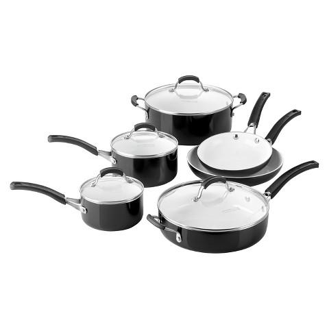 Calphalon 10-Piece Ceramic Cookware Set