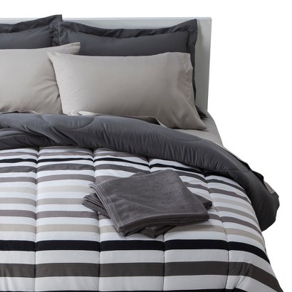 Stripe Bedding and Towel Set